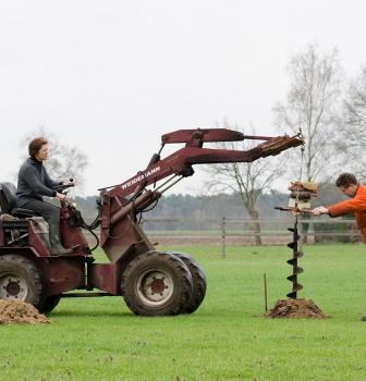 Uitbereiding van de paddocks