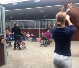 Bezoek aan het paardenhotel